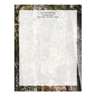 Forest Tree Camo Camouflage Nature Hunting/Fishing Letterhead