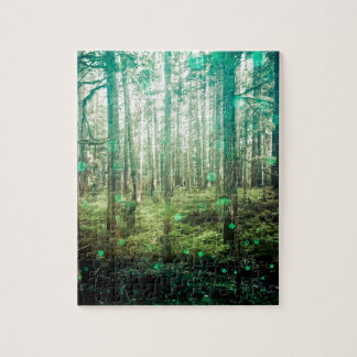 Forest Trees - In the Woods Pattern Jigsaw Puzzle