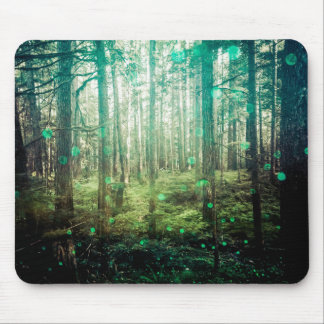 Forest Trees - In the Woods Pattern Mouse Pad