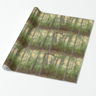 Forest Trees wrapping paper