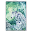 Forest Unicorn fantasy art card Meredith Dillman