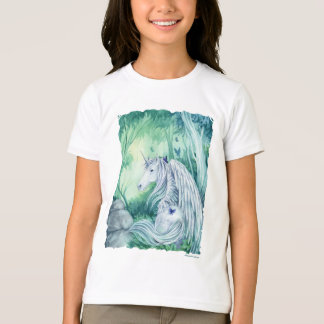 Forest Unicorn girls ringer t shirt