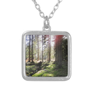 Forest View 1 Silver Plated Necklace