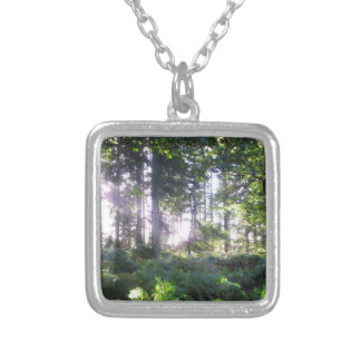 Forest View 2 Silver Plated Necklace