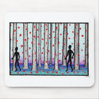 forest walk mouse pad