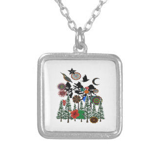 FOREST WHIMSICAL SILVER PLATED NECKLACE