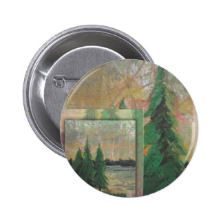 Forest witness 2 inch round button