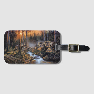 Forest Wolves Luggage Tag
