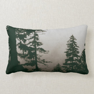 Forest Woodland Pine Tree Landscape Scene Lumbar Pillow