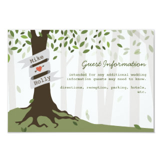 Forest / Woodland Wedding Guest Information Card