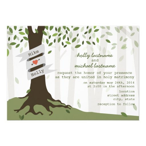 Forest / Woodland Wedding Invitation