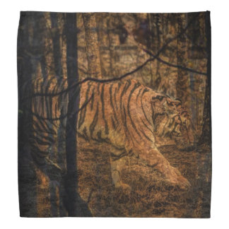 Forest Woodland wildlife Majestic Wild Tiger Bandana