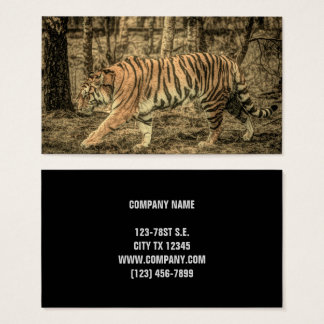 Forest Woodland wildlife Majestic Wild Tiger Business Card