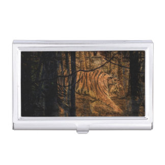 Forest Woodland wildlife Majestic Wild Tiger Business Card Holder