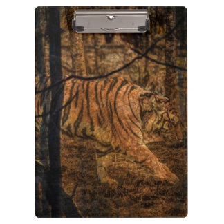 Forest Woodland wildlife Majestic Wild Tiger Clipboard