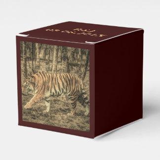 Forest Woodland wildlife Majestic Wild Tiger Favor Box