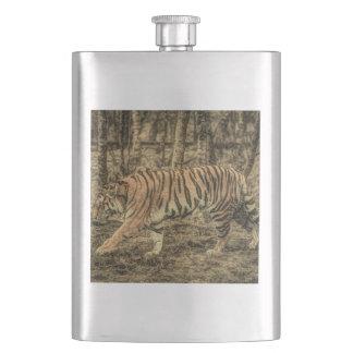 Forest Woodland wildlife Majestic Wild Tiger Hip Flask