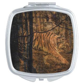 Forest Woodland wildlife Majestic Wild Tiger Makeup Mirror