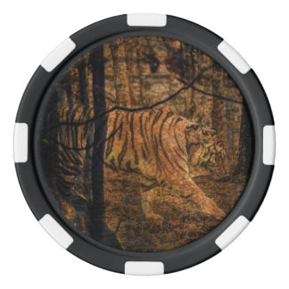 Forest Woodland wildlife Majestic Wild Tiger Poker Chips