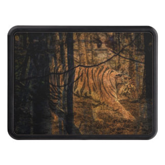 Forest Woodland wildlife Majestic Wild Tiger Trailer Hitch Cover