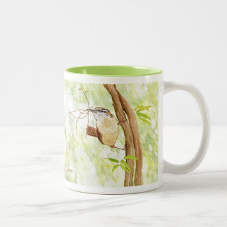Forest Wrens Two-Tone Coffee Mug