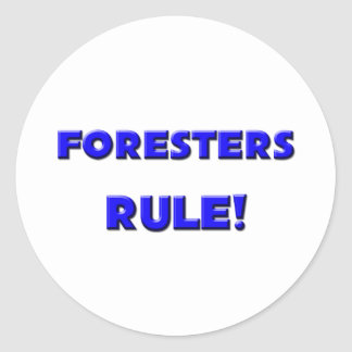 Foresters Rule Round Sticker