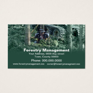 Forestry industries business card