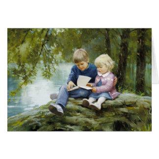 Forêts et contes de fées carte de vœux