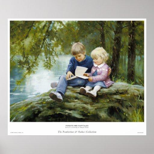 Forêts et contes de fées poster