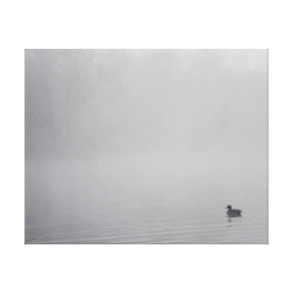 Forever Alone Single Duck Canvas Print
