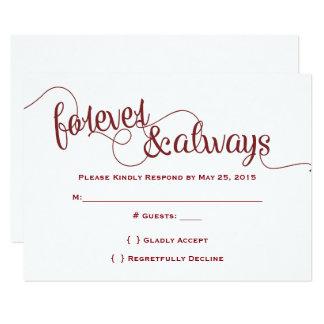Forever & Always RSVP Card