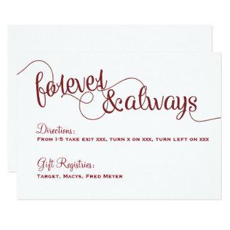 Forever & Always Wedding Details Card