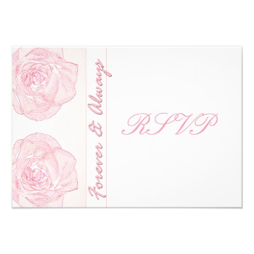 Forever & Always Wedding RSVP Personalized Invitations