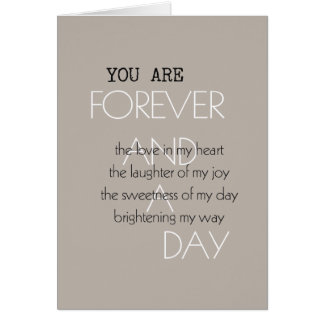 Forever and A Day Poem Card