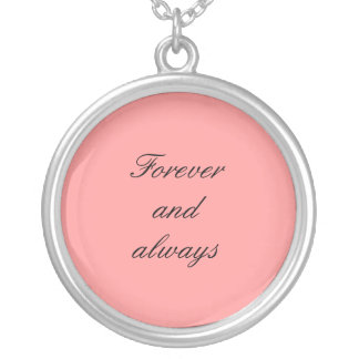 Forever and always silver plated necklace