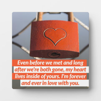 Forever And Ever In Love Plaque