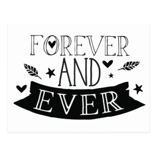 forever and ever postcard