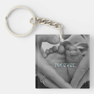 Forever baby feet in our Hearts Keychain