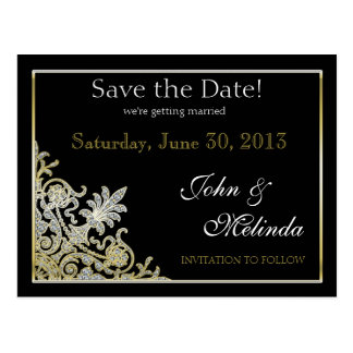 Forever Bling Save the Date Postcard