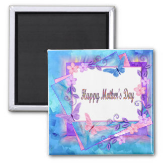 forever butterflies-Happy Mother's Day Square Magnet