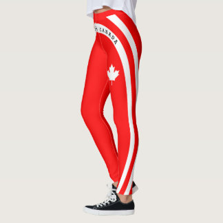 FOREVER CANADA (white maple on red) Leggings