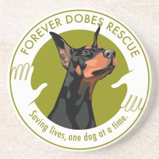Forever Dobes Logo Coaster