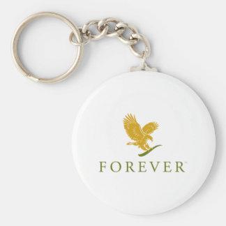 Forever Emblem Basic Round Button Keychain
