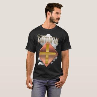 Forever Faithful Christian Men's Basic Dark Shirt