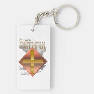 Forever Faithful Rectangular Key Chain