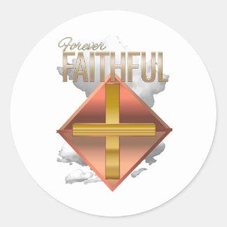 Forever Faithful Round Christian Sticker