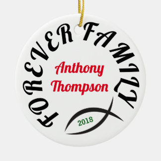 Forever Family Christian Adoption Gift Ceramic Ornament