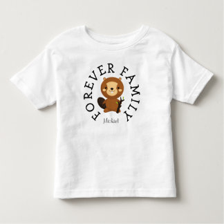 Forever Family Woodland Beaver Adoption Gift Toddler T-shirt