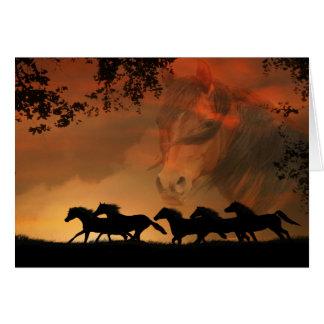 """Forever Free"" Awarding Winning Image Horse Card"