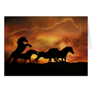 """""""Forever Free"""" Horse Sympathy Card"""
